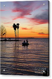 Sunset On Lake Dora At Mount Dora Florida Acrylic Print