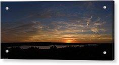 Sunset On Lake Georgetown Acrylic Print