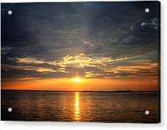 Acrylic Print featuring the photograph Sunset On Lake Hartwell by Lynne Jenkins