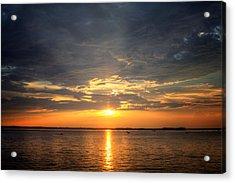 Sunset On Lake Hartwell Acrylic Print by Lynne Jenkins