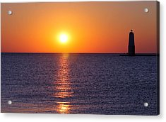 Acrylic Print featuring the photograph Sunset On Lake Michigan by Bruce Patrick Smith