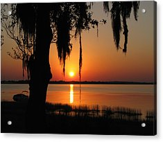 Sunset On Lake Minneola Acrylic Print by Peg Urban