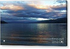 Sunset On Okanagan Lake Acrylic Print