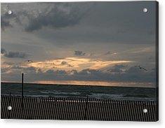 Sunset On Lake Acrylic Print by Sara Summers