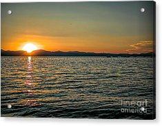 Sunset On Left Acrylic Print