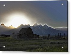 Sunset On Mormon Row  Wy Acrylic Print by Vijay Sharon Govender