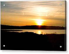 Acrylic Print featuring the photograph Sunset On Morrison Beach by Jason Lees