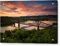 Sunset On Ohio River  Acrylic Print