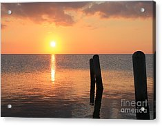 Acrylic Print featuring the photograph Sunset On Pimlico Sound by Laurinda Bowling