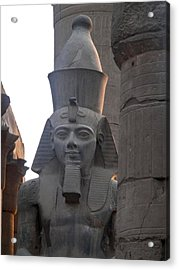 Sunset On Ramesses The Great Acrylic Print by Richard Deurer