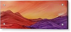 Sunset On Red And Purple Hills Acrylic Print
