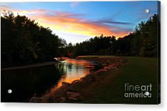 Sunset On Saco River Acrylic Print