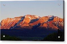 Acrylic Print featuring the photograph Sunset On Sofa Mountain by Blair Wainman