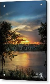 Sunset On The Arkansas Acrylic Print