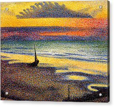 Sunset On The Beach 1891 Acrylic Print