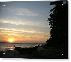 Sunset On The Beach In Vietnam Acrylic Print