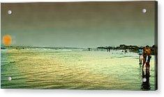 Sunset On The Beach Acrylic Print by Ken Gimmi