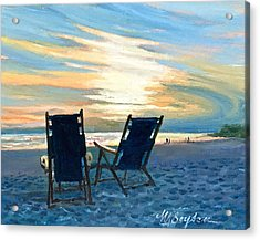 Sunset On The Beach Acrylic Print