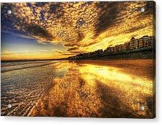 Sunset On The Beach Acrylic Print by Svetlana Sewell