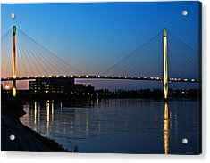Sunset On The Bob Kerry Pedestrian Bridge Acrylic Print