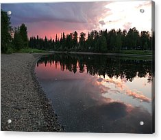 Sunset On The Chena River Acrylic Print