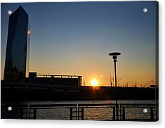 Sunset On The Cira Building Acrylic Print by Andrew Dinh