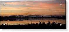 Sunset On The Coast Range Acrylic Print by Charlie Osborn