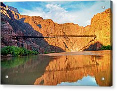 Sunset On The Colorado At Grand Canyon Acrylic Print