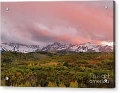 Sunset On The Dallas Divide Ridgway Colorado Acrylic Print