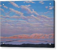 Sunset On The Dead Sea In Israel Acrylic Print
