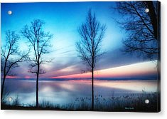 Sunset On The Diagonal Acrylic Print