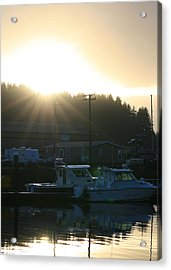 Sunset On The Docks Acrylic Print by Joshua Sunday