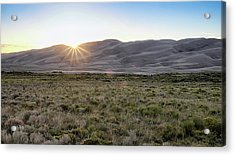 Acrylic Print featuring the photograph Sunset On The Dunes by Monte Stevens