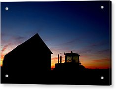 Sunset On The Farm Acrylic Print by Cale Best