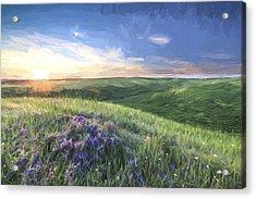 Sunset On The Farm II Acrylic Print