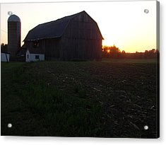 Sunset On The Farm Acrylic Print by Todd Zabel