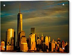 Sunset On The Financial District Acrylic Print