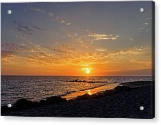 Sunset On The Gulf Coast Of Florida  -  Caspbch592 Acrylic Print by Frank J Benz