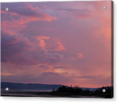 Sunset On The Hood Canal Acrylic Print