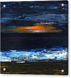 Sunset On The Horizon Acrylic Print
