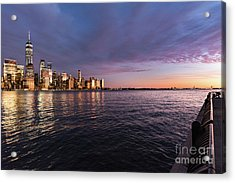 Sunset On The Hudson River Acrylic Print