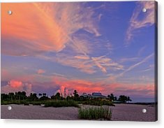 Sunset On The Last Day Of Summer In Florida-vs1  -  Lastsunsum998 Acrylic Print by Frank J Benz
