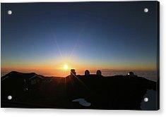 Sunset On The Mauna Kea Observatories Acrylic Print
