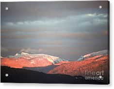 Sunset On The Monashees Acrylic Print