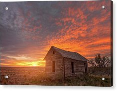 Sunset On The Prairie  Acrylic Print by Darren White