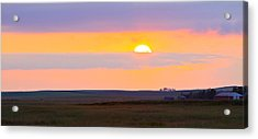 Sunset On The Reservation Acrylic Print by Kate Purdy