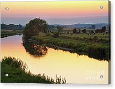 Sunset On The River Acrylic Print