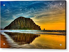Sunset On The Rocks Acrylic Print
