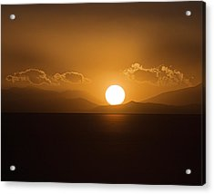 Acrylic Print featuring the photograph Sunset On The Salar by Ron Dubin