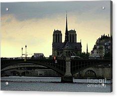 Sunset On The Seine By Taikan Acrylic Print